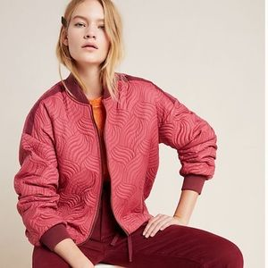 Anthropologie NWT quilted bomber jacket